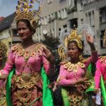 Karneval Festival: Menschen aus über einhundert Nationen
