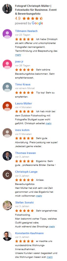 Google business review Christoph Müller Fotografie